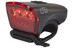 Cube LTD fietsverlichting LED zwart/rood